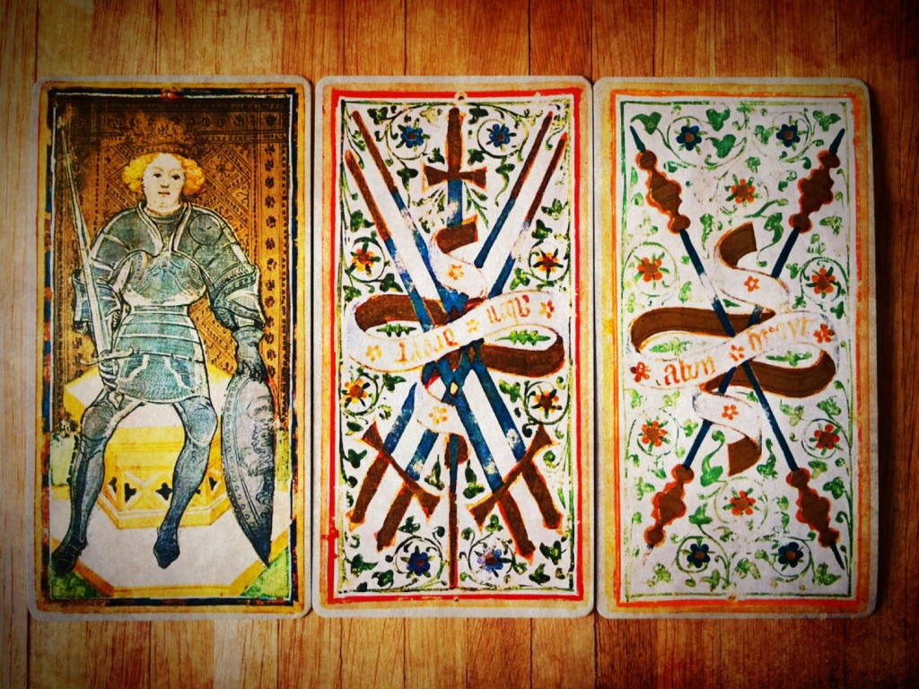 Visconti Sforza Tarot, Gabriele Mandel Edition: Monumenta Longobardica (Photo: Camelia Elias)