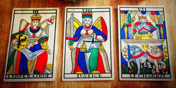 Jean Noblet Marseille Tarot, 1650, as reconstructed by Jean-Claude Flornoy (Photo: Camelia Elias)