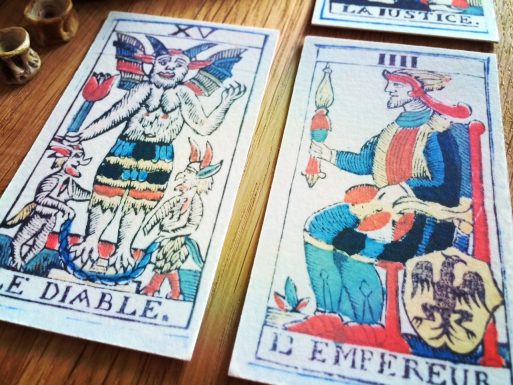 Carolus Zoya Marseille Tarot ca. 1790 | Facsimile after the original in K. Frank Jensen Collection (Photo: Camelia Elias)