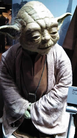 Jedi Master Yoda — © Polly Peterson (2013) Star Wars exhibit at The Tech Museum of Innovation, San Jose, CA