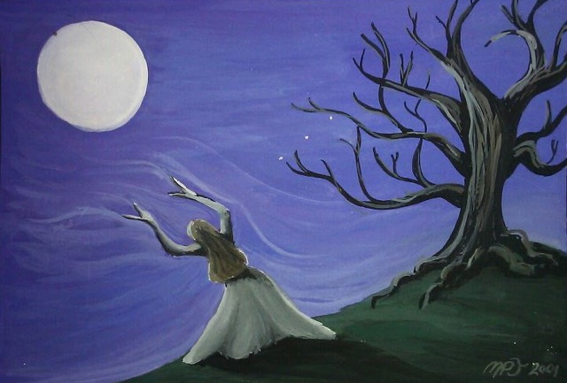 Carpe Nocturn / The Great Work, Holding the Space, Painting by Heron Michelle