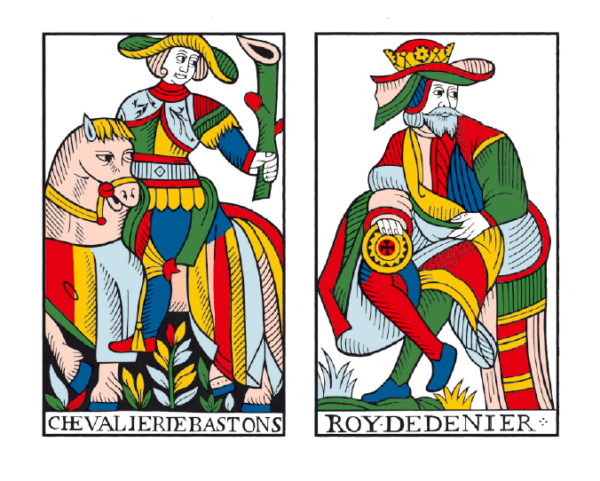 Jean Noblet Marseille Tarot, 1650, as reconstructed by Jean-Claude Flornoy