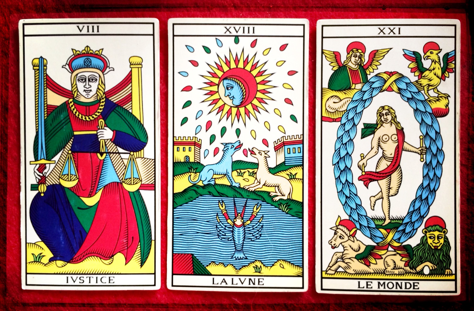 Marseille Tarot as reconstructed by Wilfried Houdoin, Millenium Edition (Photo: Camelia Elias)