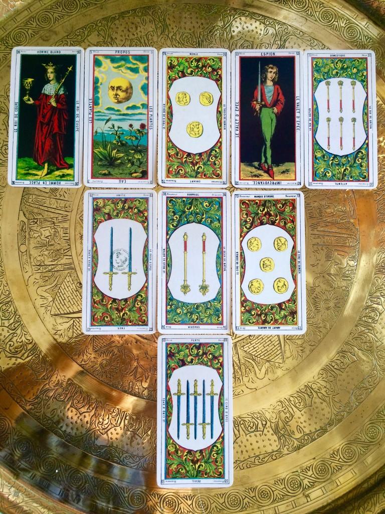 a nine-card tarot spread