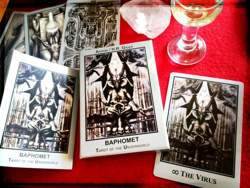 Cards from the Baphomet: Tarot of the Underworld by Akron and Giger, 2010 (Photo: Camelia Elias)