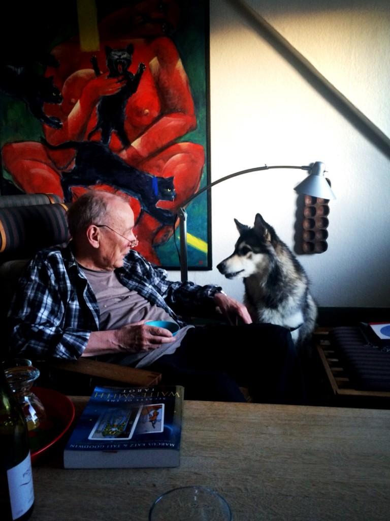 K. Frank Jensen and Frigg (Photo: Camelia Elias)