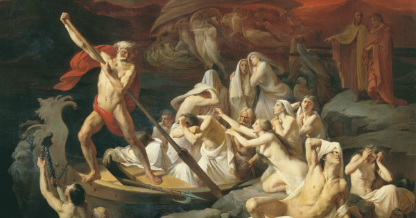 """Charon Carries Souls Across the River Styx"" by  Alexander Dmitrievich Litovchenko.  From WikiMedia."