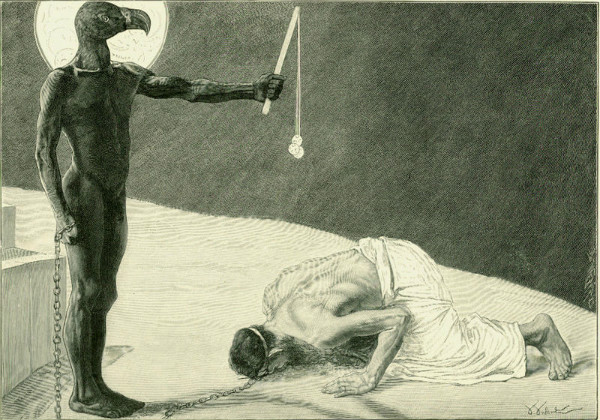 """""""Mammon and His Slave"""" by Sascha Schneider.  From WikiMedia."""