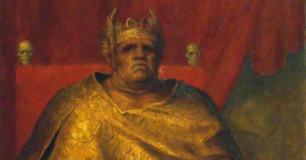 """""""Mammon"""" by George Frederic Watts (detail).  From WikiMedia."""