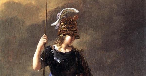 """ Pallas Athene Visits Invidia"" by Karel Dujardin.  From WikiMedia."