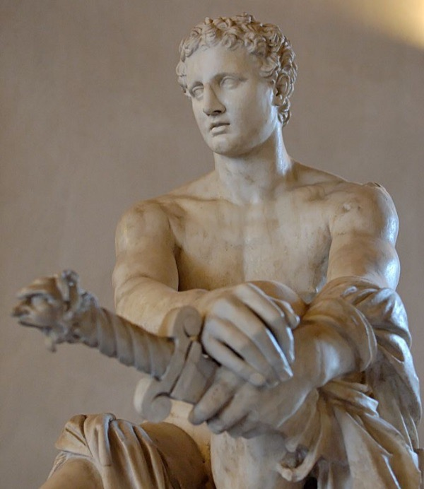 """""""Ares Ludovisi"""" from the National Museum of Rome.  Photo by Marie-Lan Nguyen Public Domain Image."""