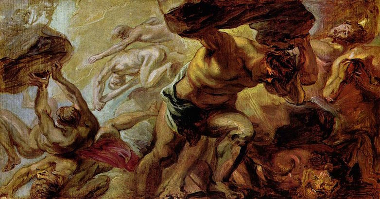 """Fall of the Titans"" by Peter Paul Rubens.  From WikiMedia."