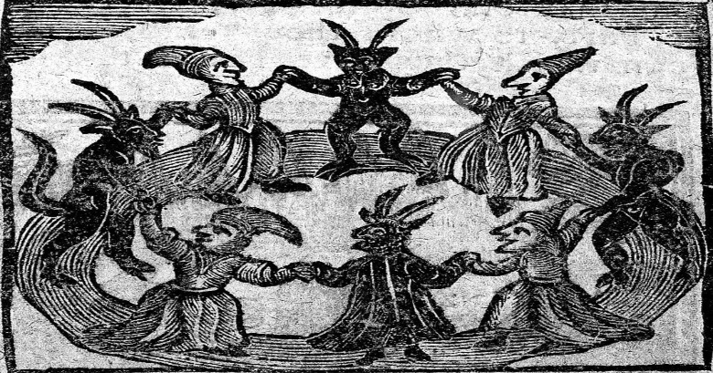 """""""The History of Witches and Wizards,"""" 1720 via the Welcome Trust via WikiMedia."""
