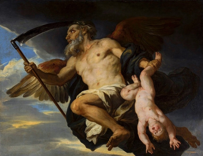 """""""Chronus and His Child"""" by Giovanni Francesco Romanelli.  From WikiMedia."""