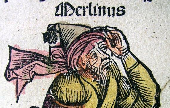 Merlinus, 15th Century Image.