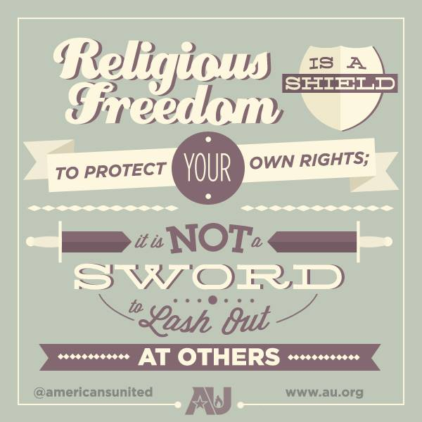 Religious Freedom A Shield Not Sword