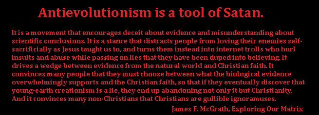 Antievolutionism is a tool of Satan