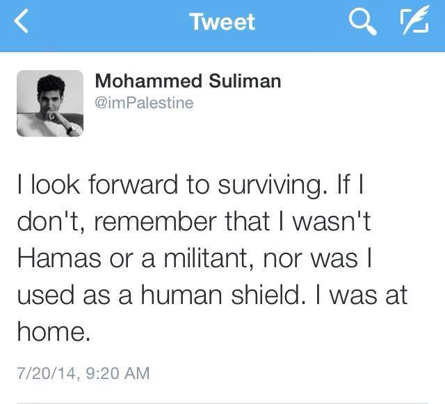 Palestinian tweet