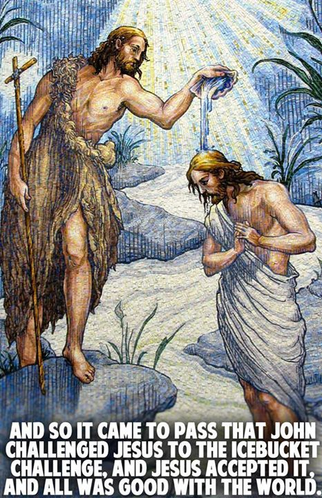 Jesus and John icebucket challenge