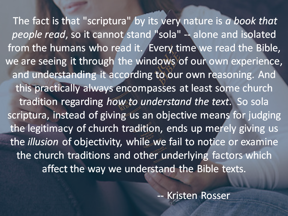 Kristen Rosser Sola Scriptura