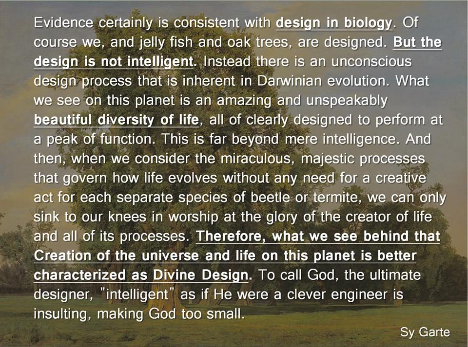 Sy Garte design quote