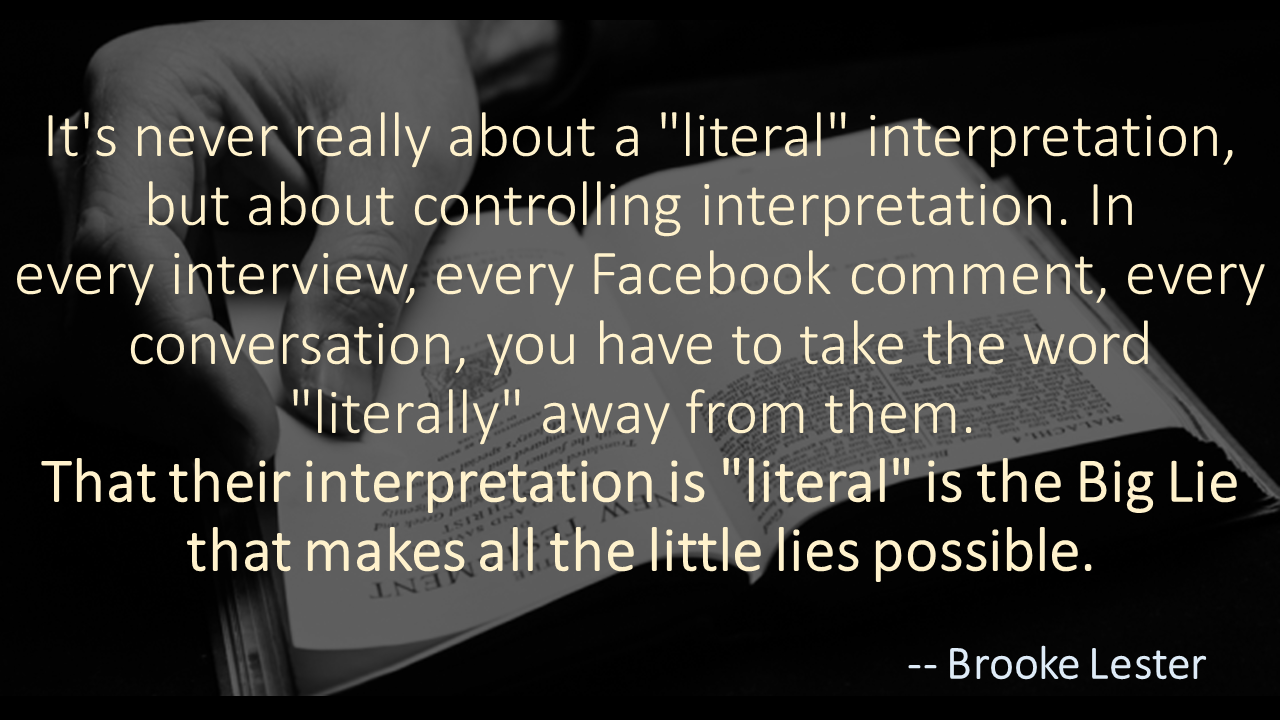Brooke Lester quote the Big Lie