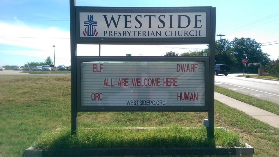 Westside PC All Welcome Sign 1