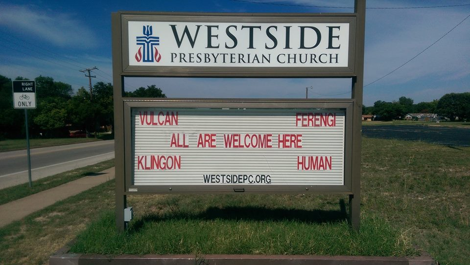 Westside PC All Welcome Sign 2