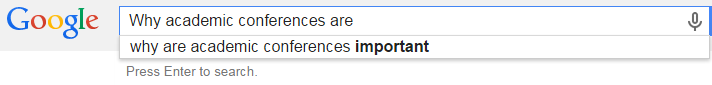 Why academic conferences are important