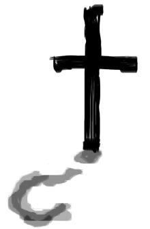 cross with question mark shadow