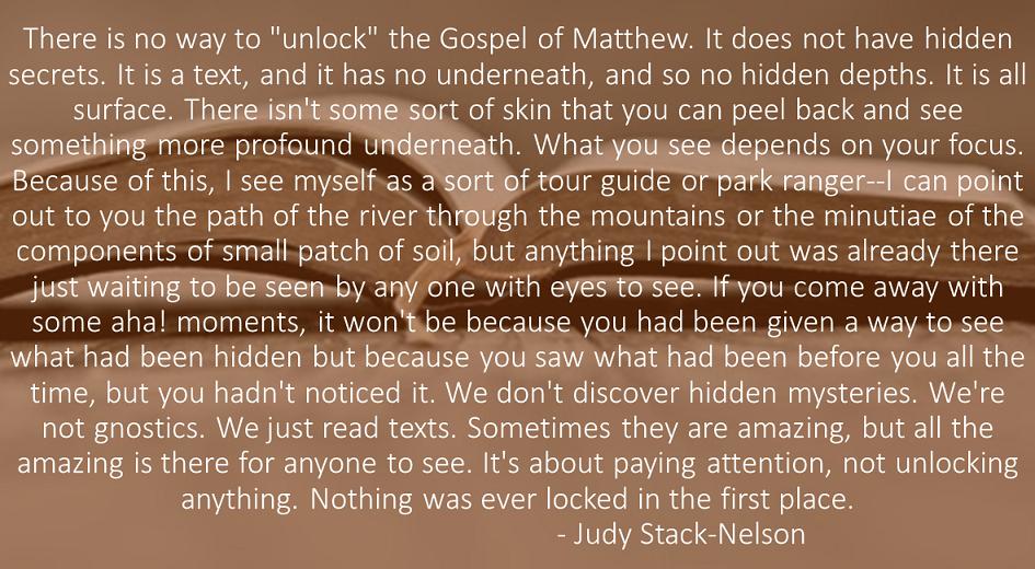 Unlocking Matthew
