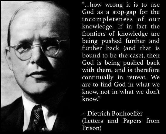 Bonhoeffer God of Gaps
