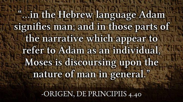 Origen on Adam as Human Being