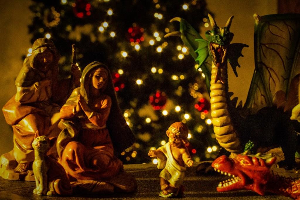 Pseudo Matthew dragons nativity