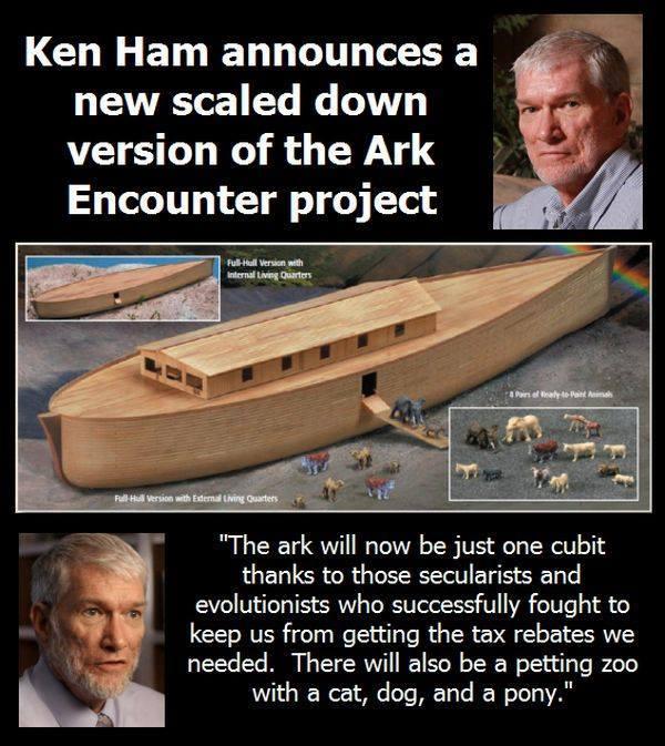 Scaled down ark park