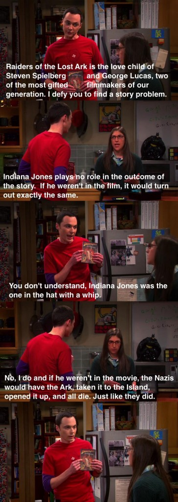 Sheldon-Amy-Argue-About-The-Indiana-Jones-Series-On-The-Big-Bang-Theory
