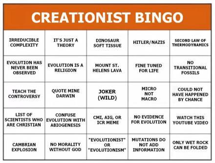 creationist-bingo