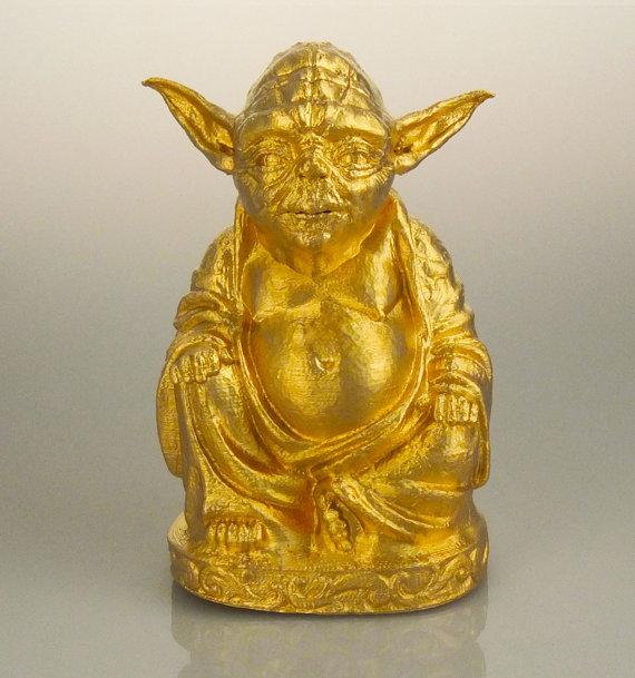Gold Yoda Buddha