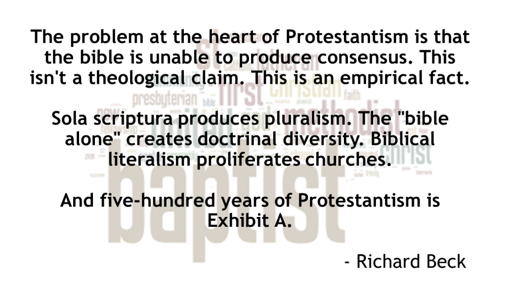 Protestantism Produces Pluralism