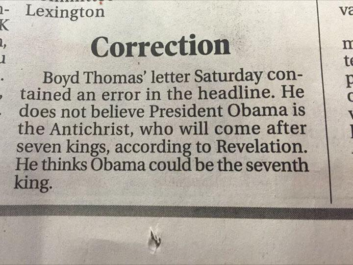 Correction Obama Antichrist