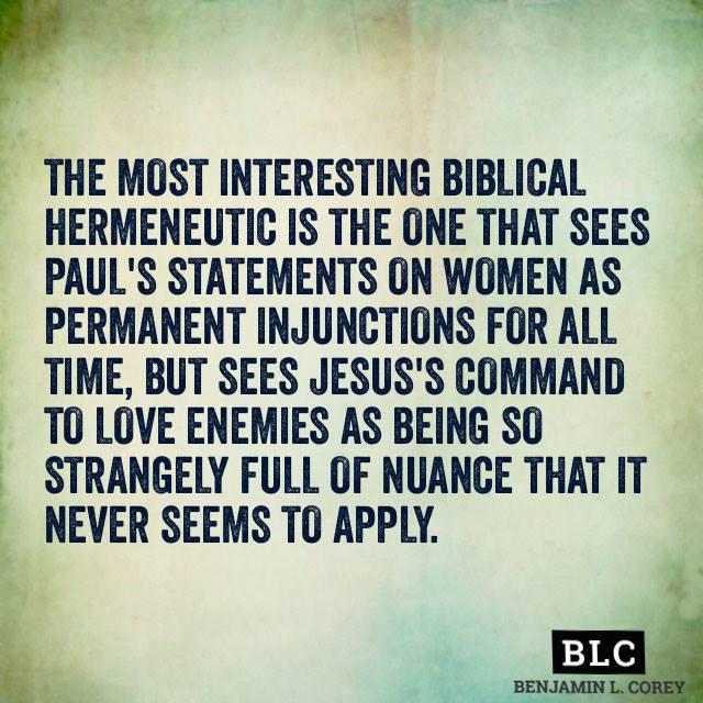 Most interesting Biblical hermeneutic