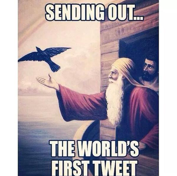Noah World's First Tweet