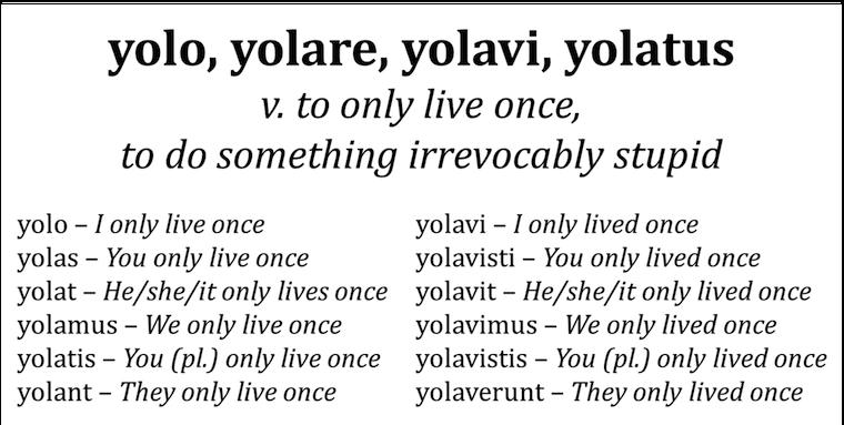 Yolo in Latin
