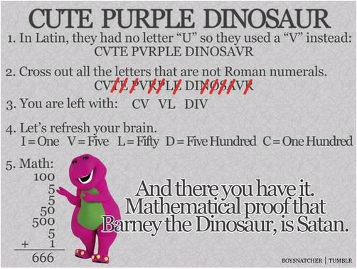 Barney is the Antichrist