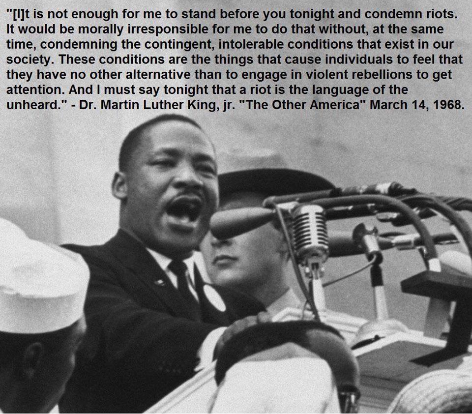 MLK on Riots