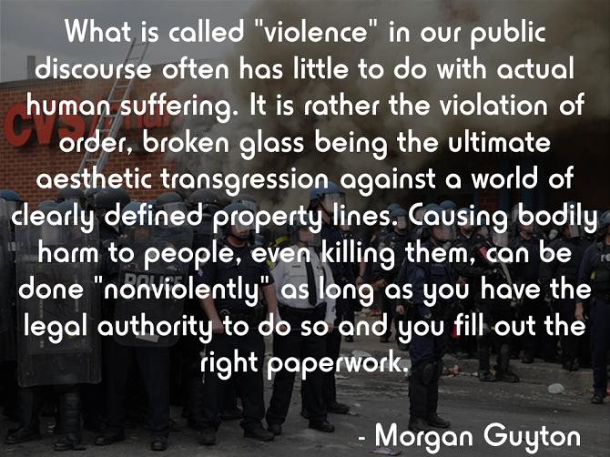 Morgan Guyton on violence