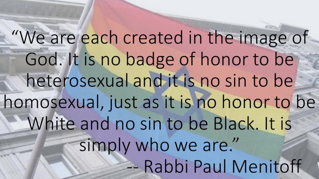 No sin to be homosexual