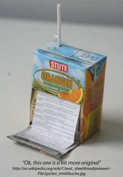 juice box cheating