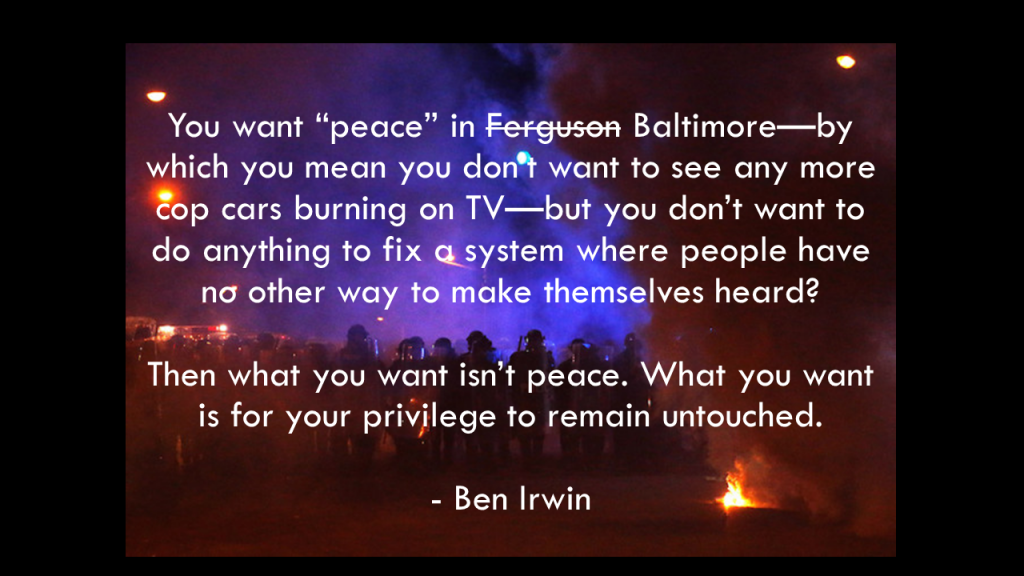 Ben Irwin Stop Praying For Peace