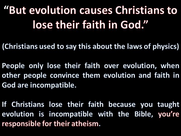 Evolution and loss of faith